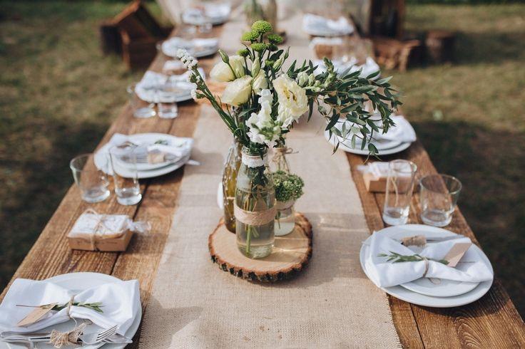 rustic table setting сервировка в стиле рустик