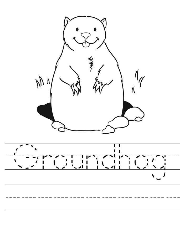Groundhog Coloring Pages Preschool Free Coloring Sheets Animal Coloring Pages Groundhog Day Tracing Worksheets