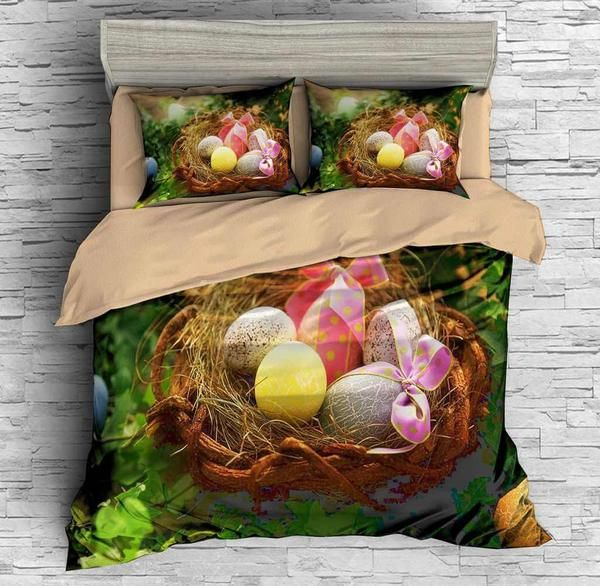 3D Customize Easter Eggs Bedding Set Duvet Cover Bedroom Bedlinen