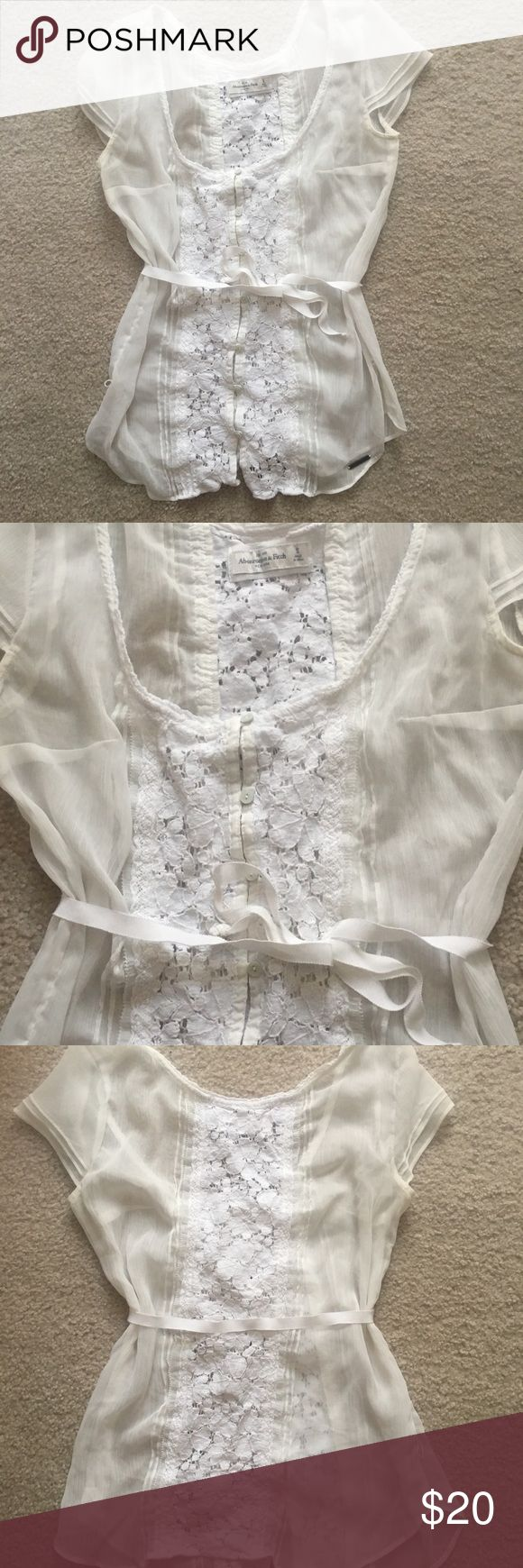 Lace sheet blouse Perfect for any occasion! Abercrombie & Fitch Tops Blouses