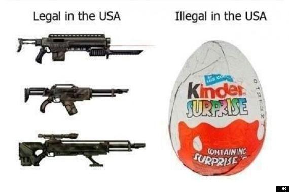 Il est plus facile d'acheter des armes à feu aux États-Unis que des Kinder Surprise