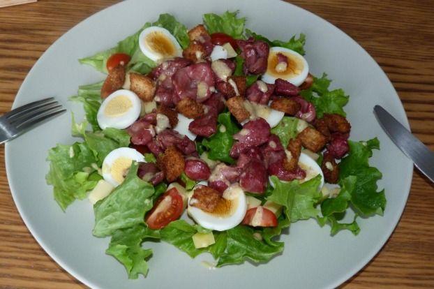 Recette - Salade de gésiers de volaille | 750g