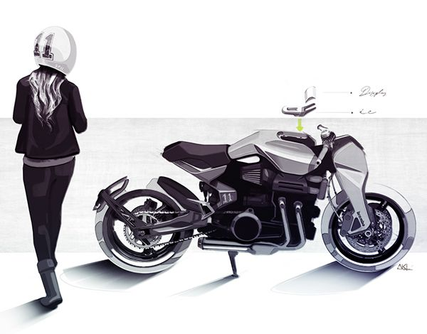 Motorcycle sketches Vol.II on Behance