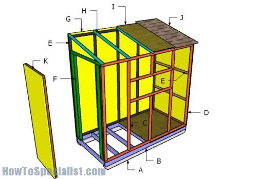 4x8 Ice Shack Roof Plans Howtospecialist How To Build Step By Step Diy Plans Diy Plans Ice Shanty Plans Ice Fishing Shack Plans