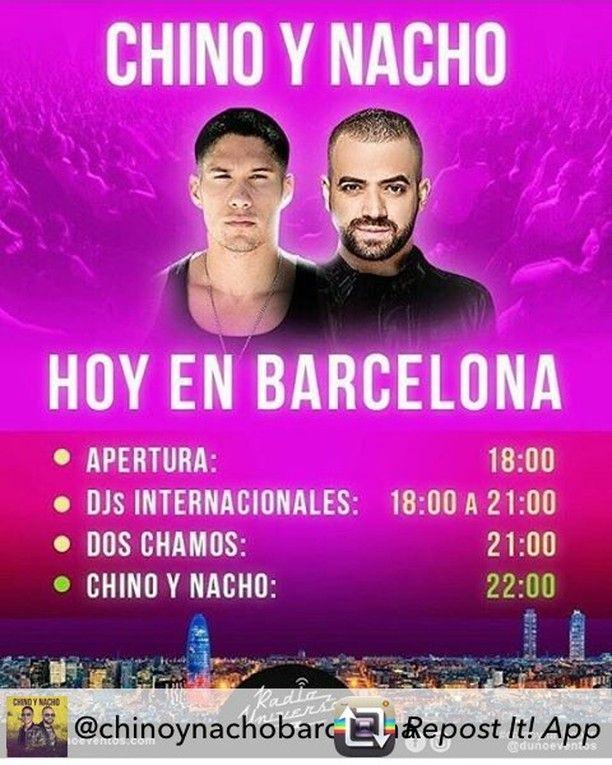 Ya en cuenta regresiva!!! Hoy Chino y Nacho en Barcelona