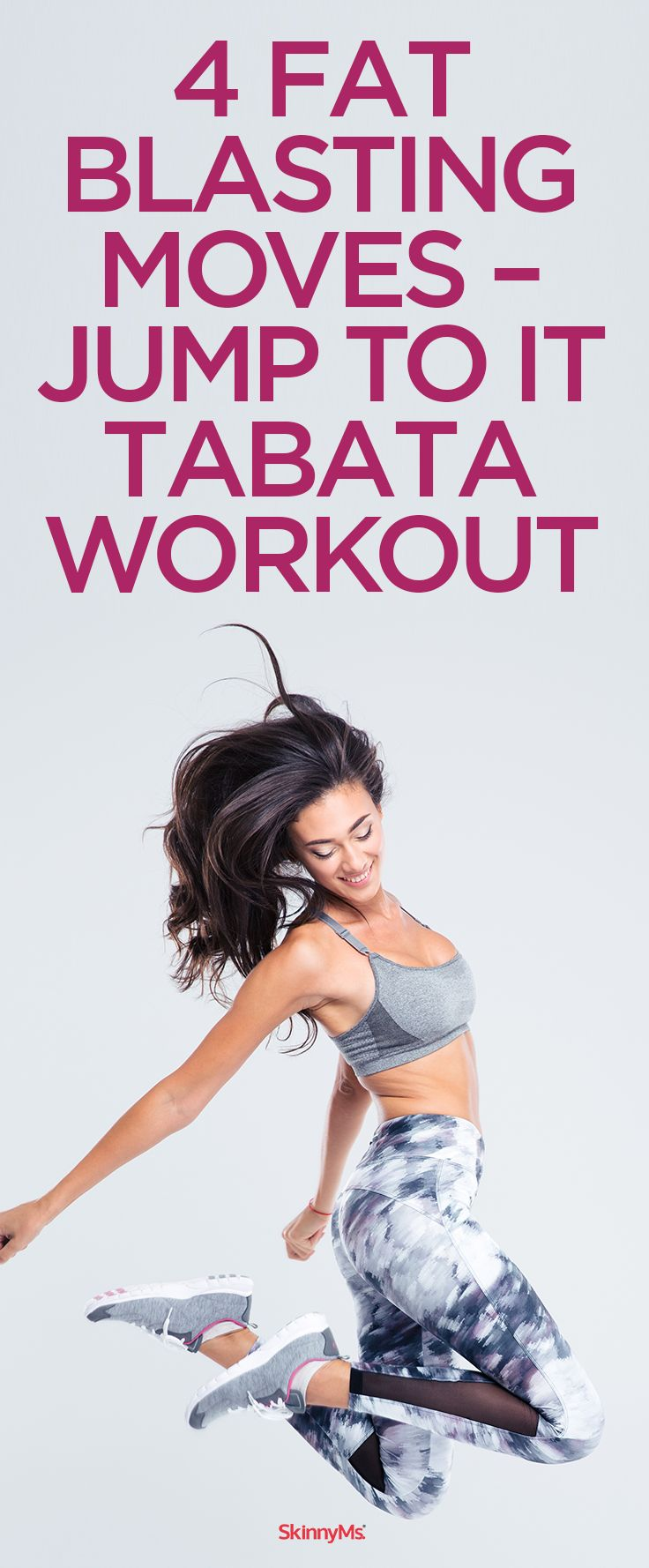 4 Fat-Blasting Moves Jump to It Tabata Workout #tabata #miniworkout