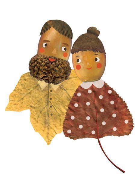autumn in DaWanda acorns+in+love+Postcard+from+enna+shop+by+DaWanda.com