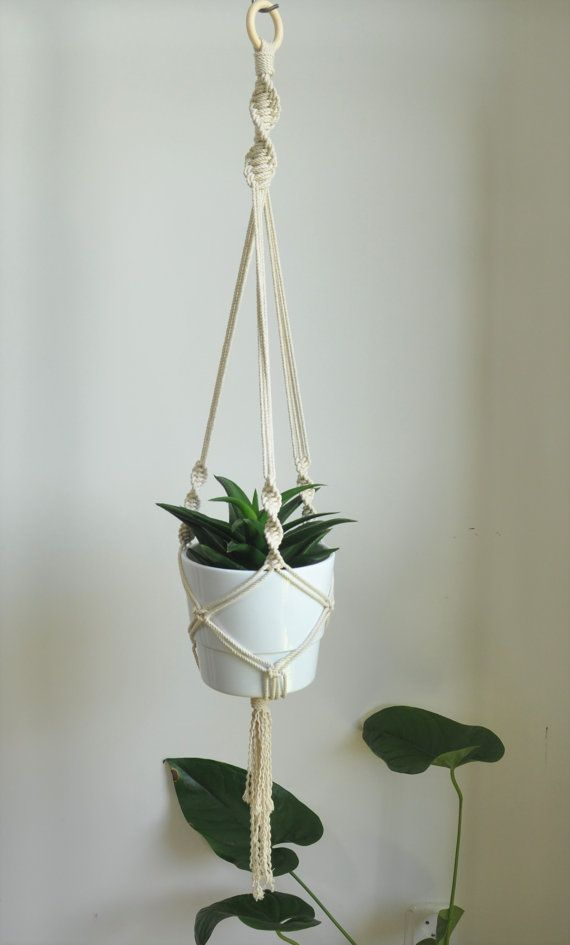 Hanging Planter, Macrame Rope Plant Holder, Macrame Planter, Indoor Wall  Planter, Cotton