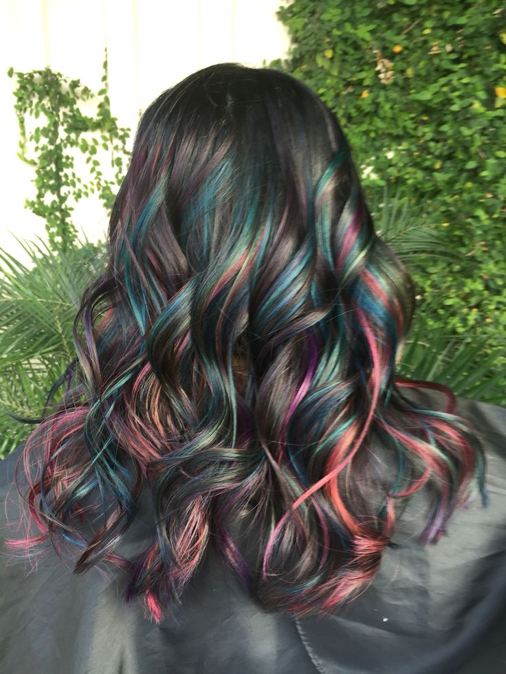 Oil slick. Joico Intensities. Mermaid hair. Unicorn hair. Brazilian Bondbuilder…