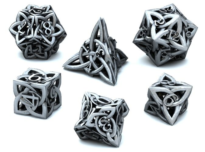 Celtic Dice Set......Oooomg! I made inappropriate noises at this.......I neeed these in my life!