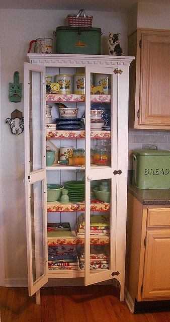 The Collections Cupboard. My Mamma had a cabinet like this. It was her dish cabinet!