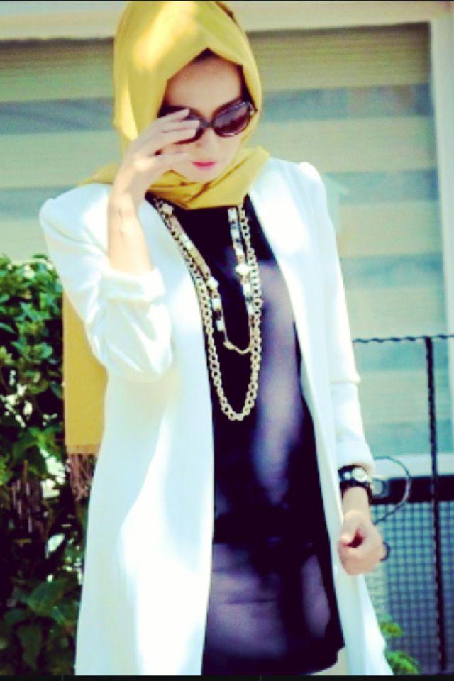Beyaz Tesettur Blazer Ceket Modelleri Blazer Ceket Moda Stilleri Model