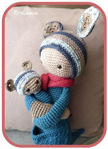 KIRA the kangaroo made by Kralemie / crochet pattern by lalylala