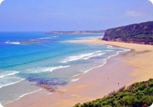 Bells Beach, Torquay, Victoria, Australia... check! Probably the most beautiful beach I visited, during my trip to Australia. It's an infamous surfing spot, that hosts some of the world's top surfing contests.