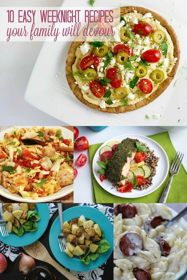 No more stressing about what to have for dinner. These easy weeknight meals are fast and simple to make and are sure to be a crowd-pleaser with your family.