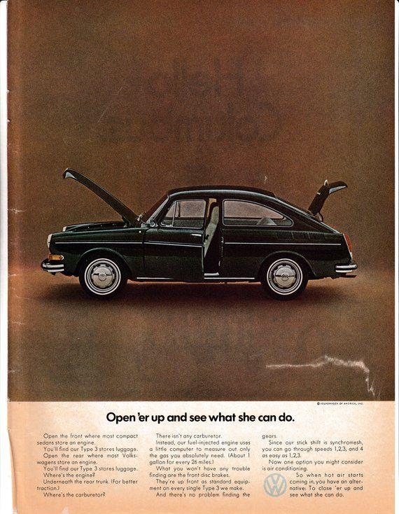 1972 VW Type 3 26 MPG-Fuel Injected-Engine Rear Volkswagen