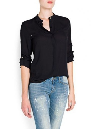 Work Essential Long Sleeve Solid Black Chiffon Blouse  with cheap wholesale price, buy Work Essential Long Sleeve Solid Black Chiffon Blouse  at wholesaleitonline.com !