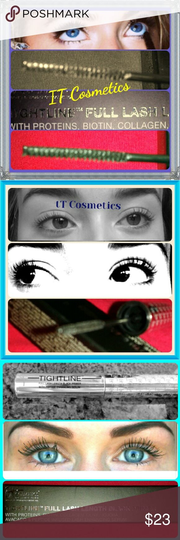 IT COSMETICS - Mascara IT -Cosmetics- MASCARA-TIGHT LINE With PRIMER/FULL LENGTH//BLACK COLOR/Reason for word Tight line  Is it Gets Deep To Root of Lashes and Small or Baby Lashes to Bring To Surface Huge Thick ,Longer Lash and No Clumps. On It Web-And Similar Stores  $25-29/ New Never been Used/  Final Sale it Cosmetics  Makeup Mascara