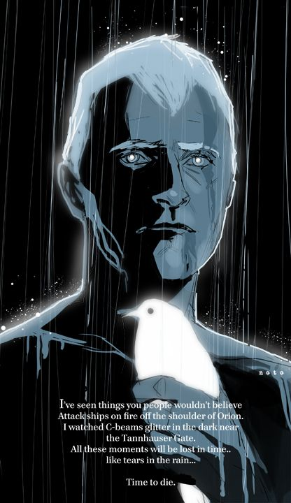 Blade Runner - Roy Batty by Phil Noto. The most iconic scene from an incredible sci-fi film.