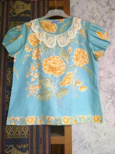 nice light blue batik top