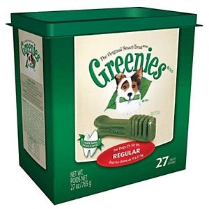 HIGHLY recommended - expensive but you can break them into a couple of pieces to make them last longer - They have vitamin/joint infused ones for older dogs which are the ones I use GREENIES® Dental Chews