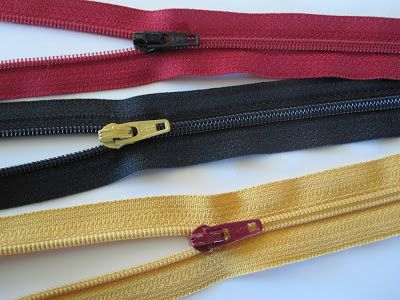 How to take zippers apart and then put them back together again 2 color zipper tutorial