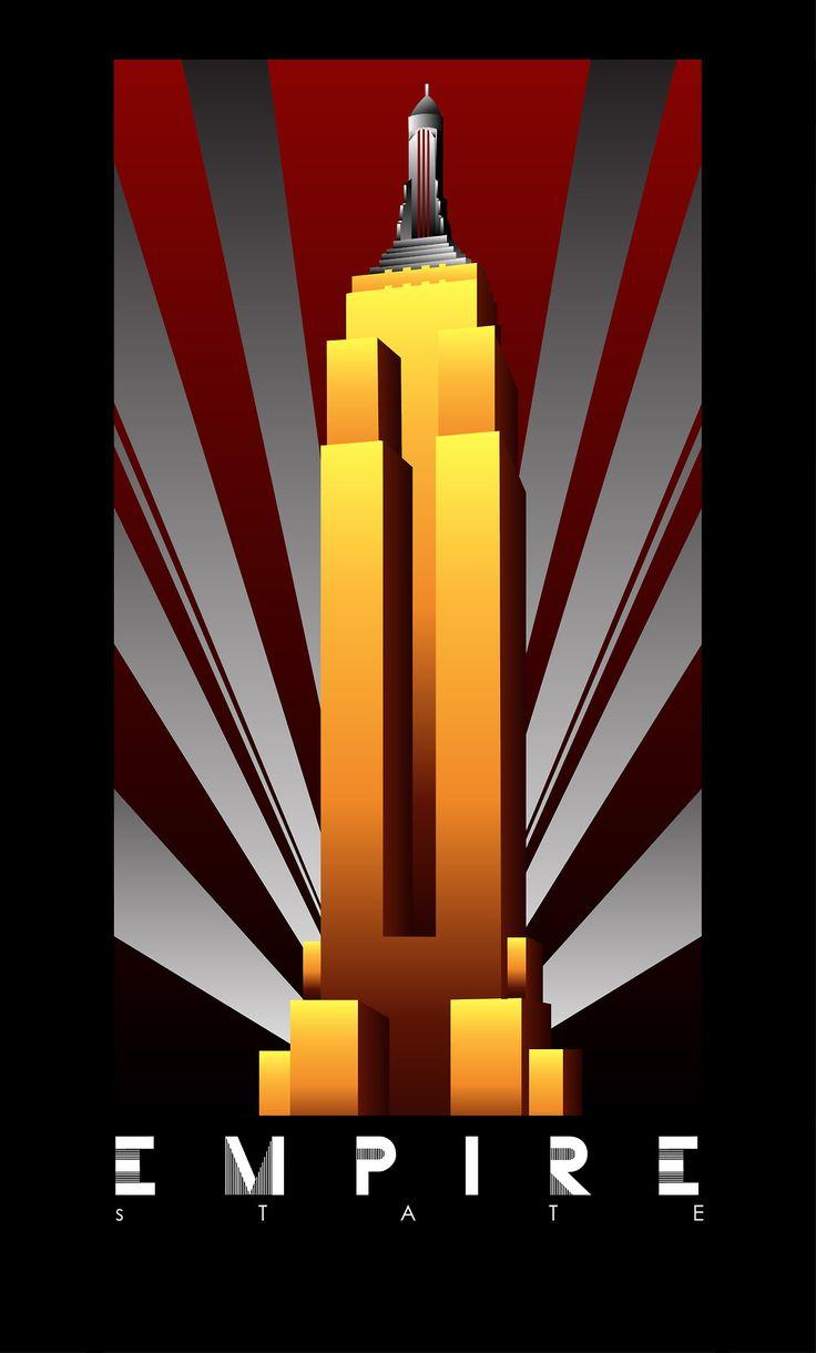 Art Deco posters celebrating the Big Three of Gotham City