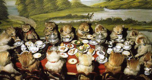 freaky kitten tea party