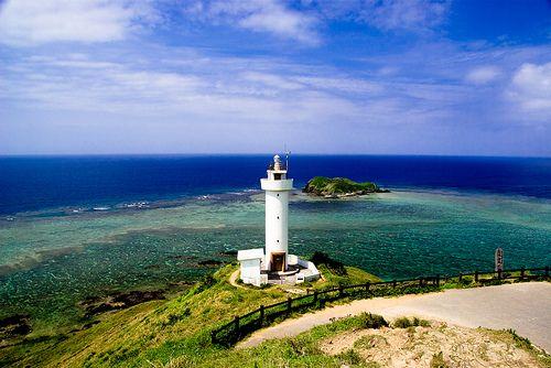 The lighthouse which watches paradise Hirakubosaki, Ishigaki island, Okinawa, Japan