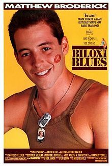 Biloxi Blues is a 1988 American comedy film directed by Mike Nichols and starring Matthew Broderick.The second chapter in what is known as Simon's Eugene trilogy (the first being Brighton Beach Memoirs and the third being Broadway Bound), the story centers on Eugene Morris Jerome, a 20-year-old Jewish Brooklynite who is drafted into the United States Army during the last year of World War II and is sent to Biloxi, Mississippi for basic training. #MSMovies