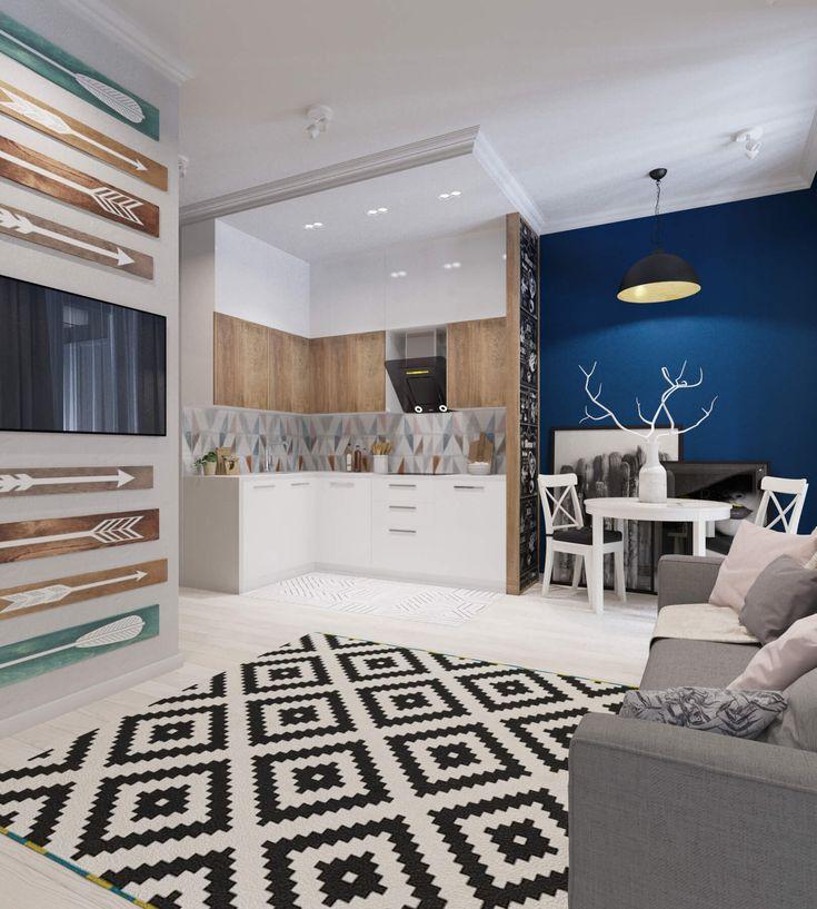 Задача, которую поставили перед дизайнерами студии «ДА-Дизайн» молодая семейная пара с ребенком, объединить кухню с гостиной таким образом, чтобы присутс