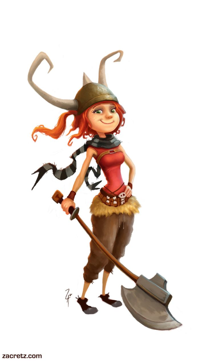 A Cartoon Character Girl : Viking character design i would love to feel this way