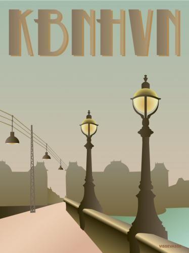 Dronning Louises bridge » Copenhagen » art » poster from Vissevasse