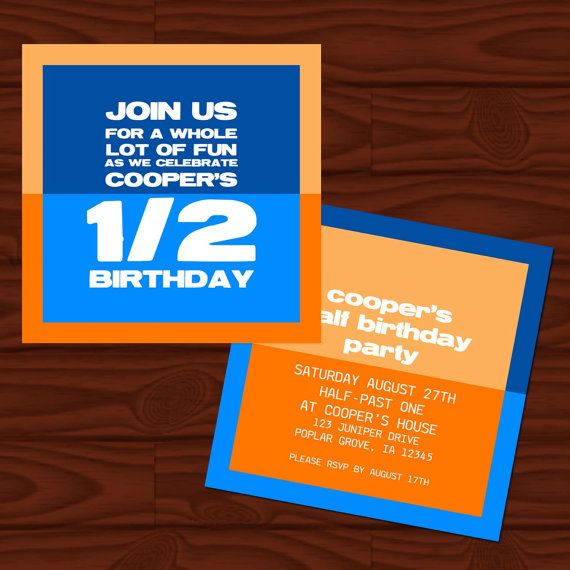 Half Birthday Party Invite By Popcornandpixels On Etsy 3950