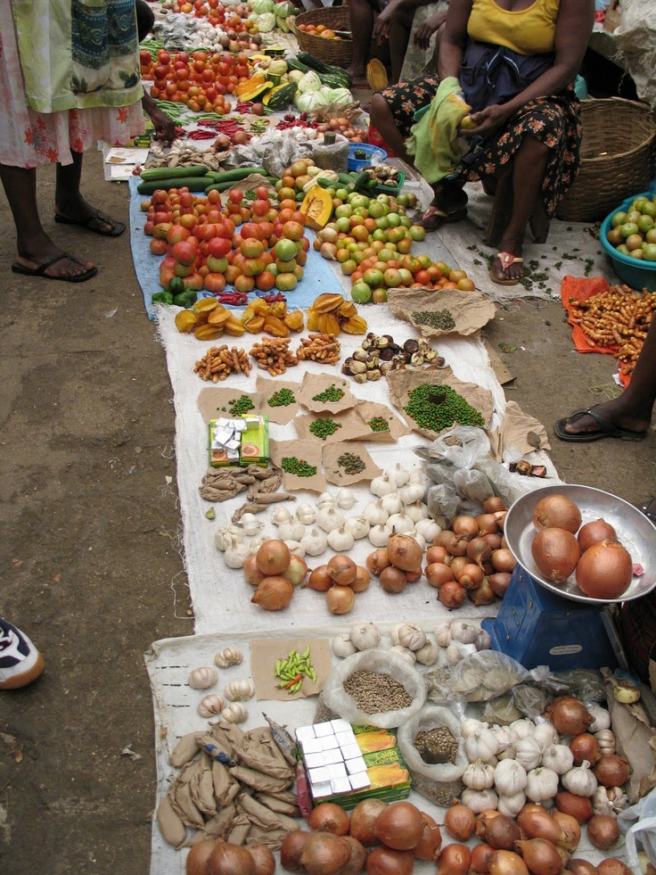 Fruits in the street market