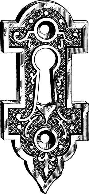 Vintage keyhole