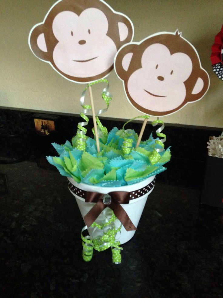 monkey centerpiece baby favors monkey baby shower centerpieces shower