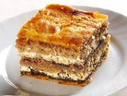 One of the favorite sweet treats of Slovenia: Prekmurska gibanica (Poppyseed, Walnut and Apple Strudel Pie) | European Cuisines