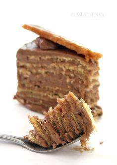 The most famous Hungarian cake in the world, Doboš Torte, was first made for the Hungarian state exhibition in 1885. It was made out of 8 separately baked layers of biscuit spread over with a cooked buttercream.