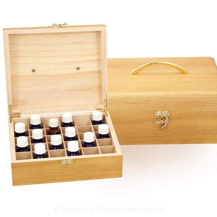 Fragrance Oil Wooden Storage Box Large