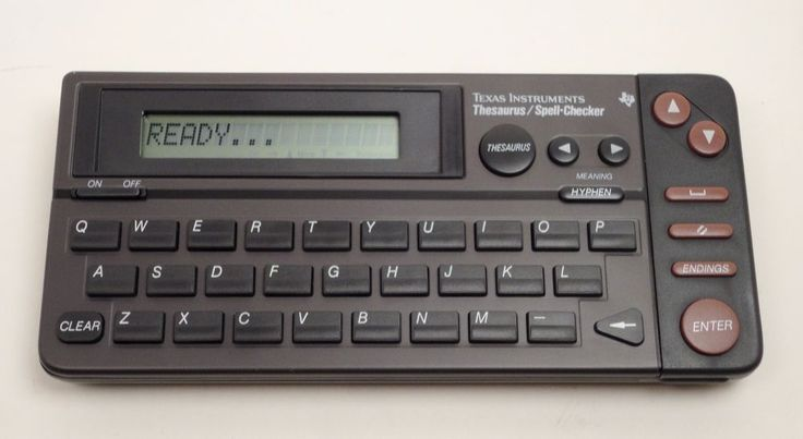 Vintage 1990 Texas Instruments RR-2 Thesaurus/Spell-Checker Rare TI Museum Works…