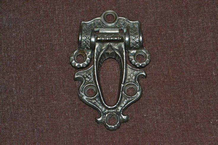 Antique Victorian Ice Box Hardware Hinge Reclaimed Part #1697 with Makers Initia #BC