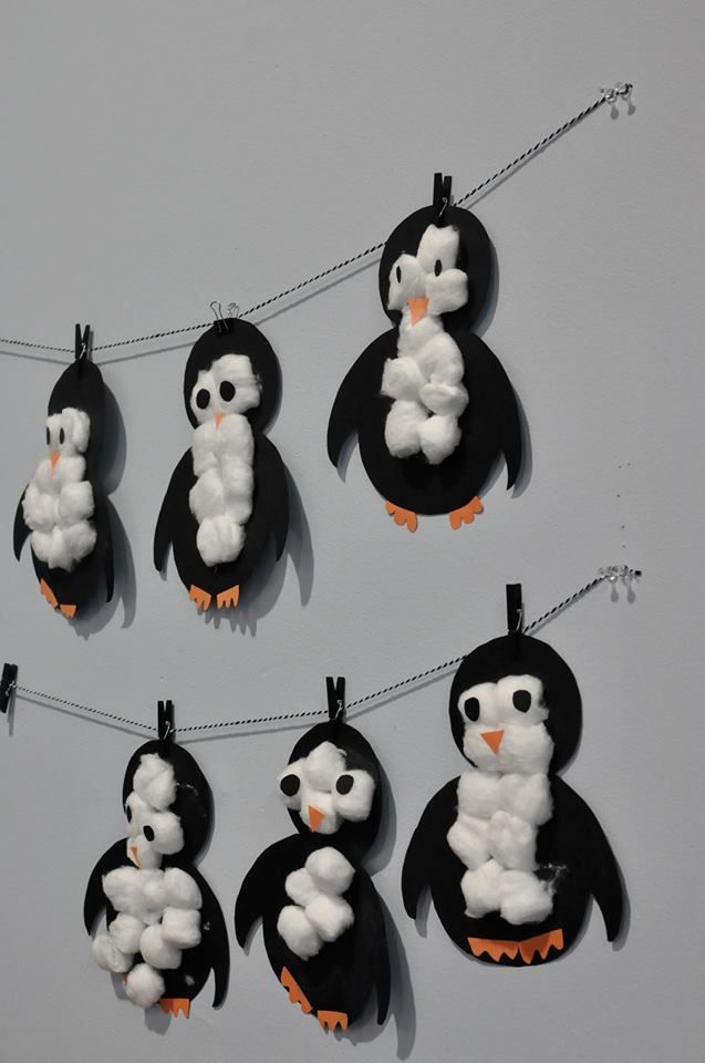 January Kids Club Craft: Cotton Ball Tummy Penguins! Stay tuned for more Armstrong Fitness Kids Club activities!