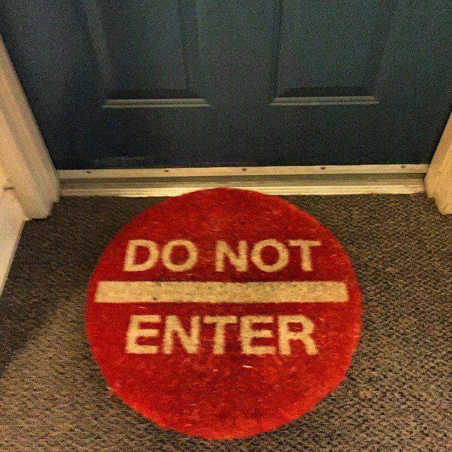 Do Not Enter Doormat #Affordable, #Cool, #Doormat, #Red, #Resistant