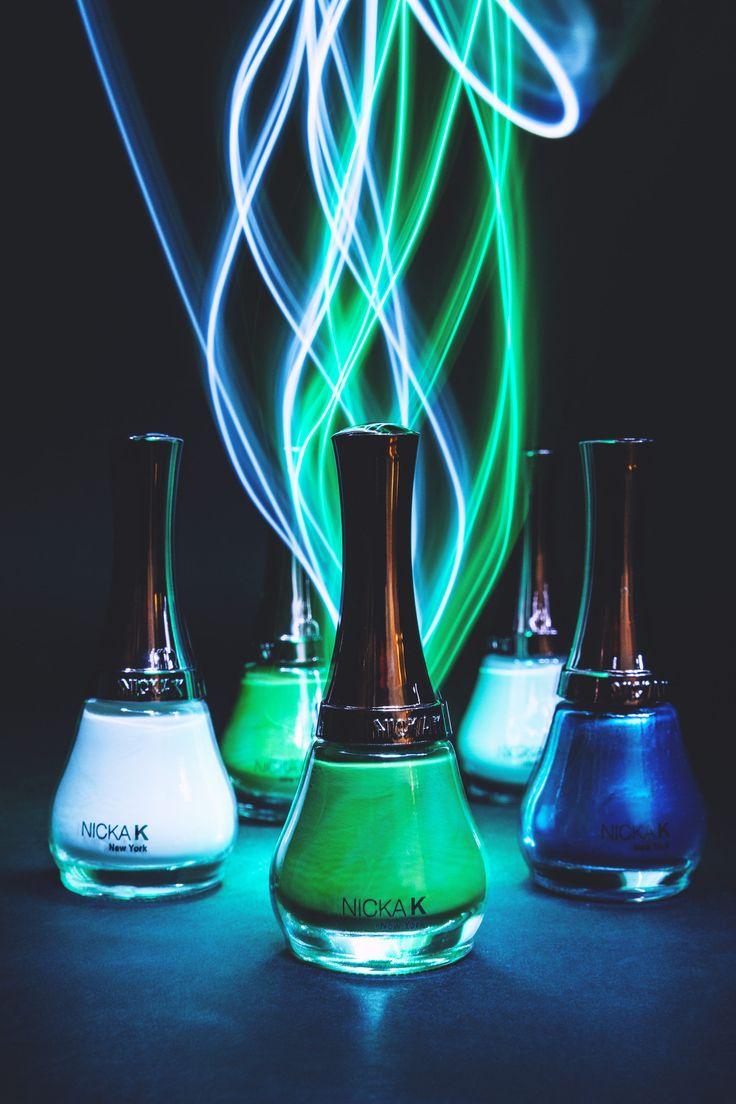 Nicka K Blue and Green Nail Polish