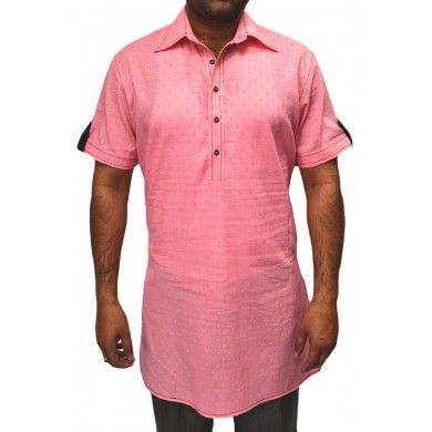 Exotic Pink stylish semi formal short kurta #Ethnickurtas #Kurta #Kurtas