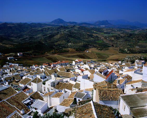 Overhead of village rooftops, Olvera 🌙