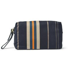 Paul Smith Shoes & Accessories - Leather-Trimmed Striped Canvas Wash Bag | MR PORTER