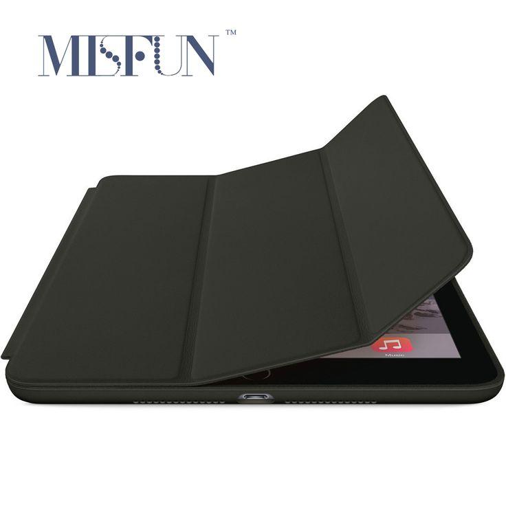 Para ipad air 2 caja elegante magnética ultra delgada de la pu cubierta de cuero del soporte del tirón para ipad air 1 (ipad 5 6) Auto Sleep/Wake up
