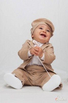 Anzug baby braun
